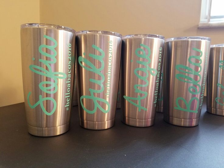 Personalized Tumblers, wedding gifts, bridesmaids gifts, & family reunions too! BECAuseShesCrafty.etsy.com