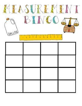 Measurement Bingo Game