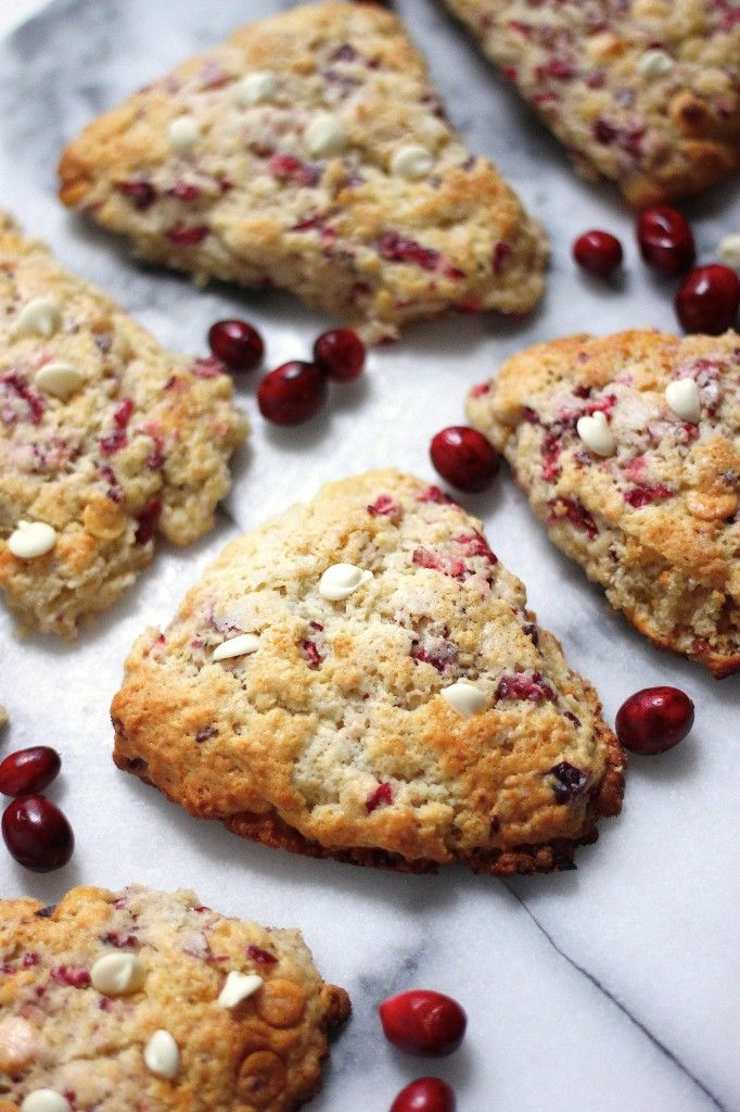 White Chocolate Cranberry Scones. I could live off of scones (plus clotted cream and preserves!)