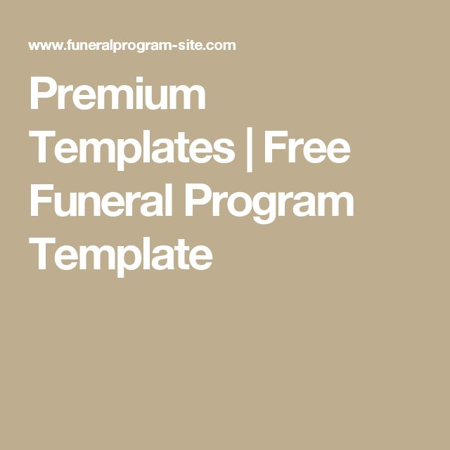 25+ parasta ideaa Pinterestissä Funeral program template free - programs templates free