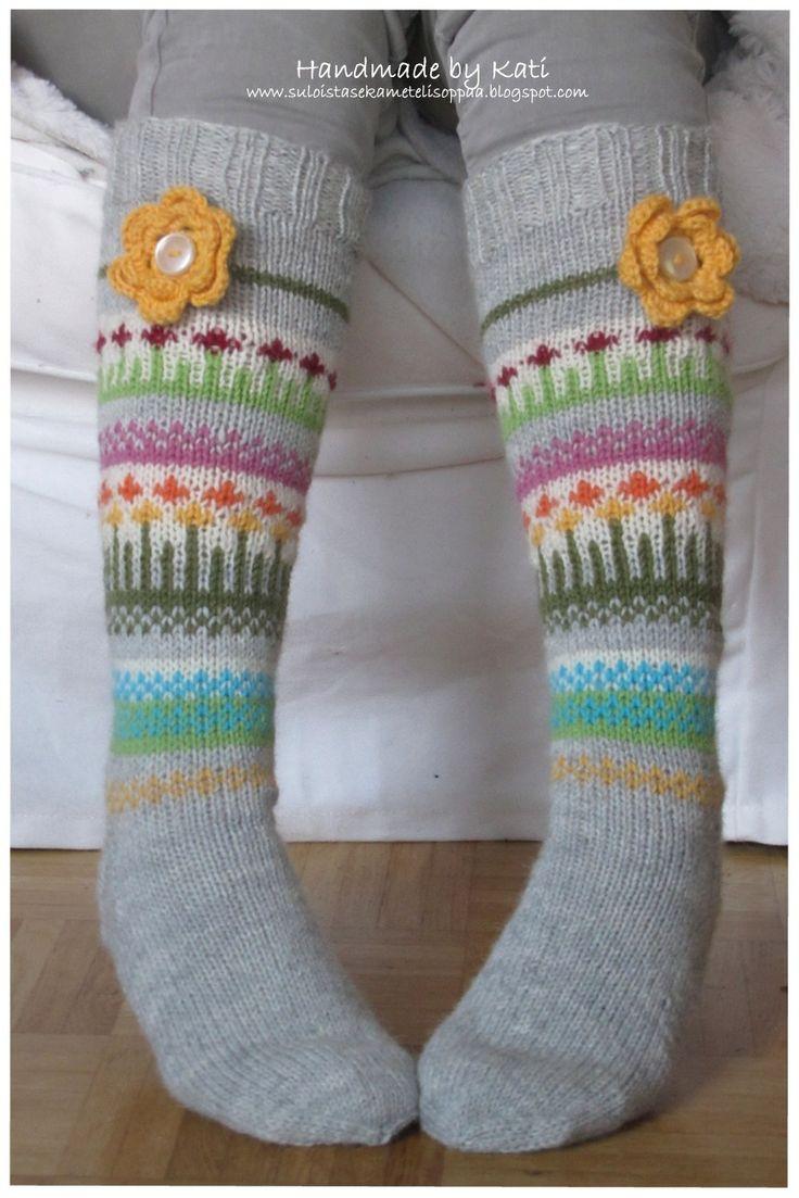 Handmade socks, knitting