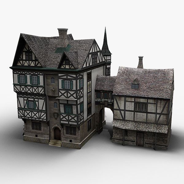 Old german house 3ds old german house by bemola past for Medieval house design