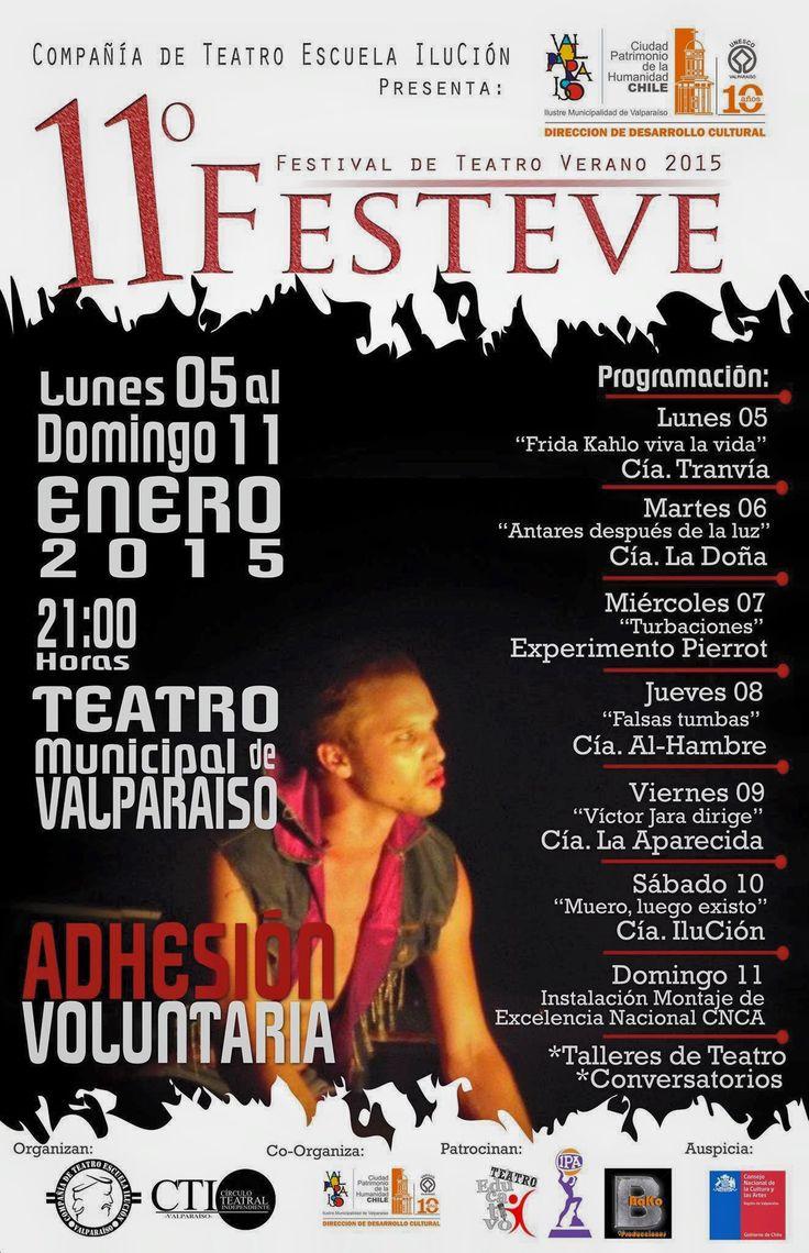 11º Festival de Teatro Verano FESTEVE 2015 en Valparaíso