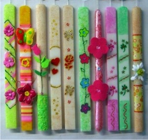 Greek Easter candles