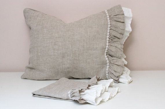 This lavishly decorated pillowcase OPERA is a compliment to it's owner. The blend of natural grey and pure white will seem as nature's brushstrokes in your bedroom. Pillowcase is made from 100% natural linen fabric. Linen is the healthiest choice of fabric for your bedroom thanks to its anti-microbial qualities. These product won't shrink in the wash thanks to a special treatment-wash. The material is silky-soft to the touch and does not need ironing, linen's wrinkles are a part of it's…