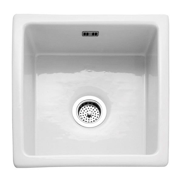 RAK Gourmet 6 Single Bowl 475mm X 450mm Inset Or Undermount White Ceramic  Kitchen Sink