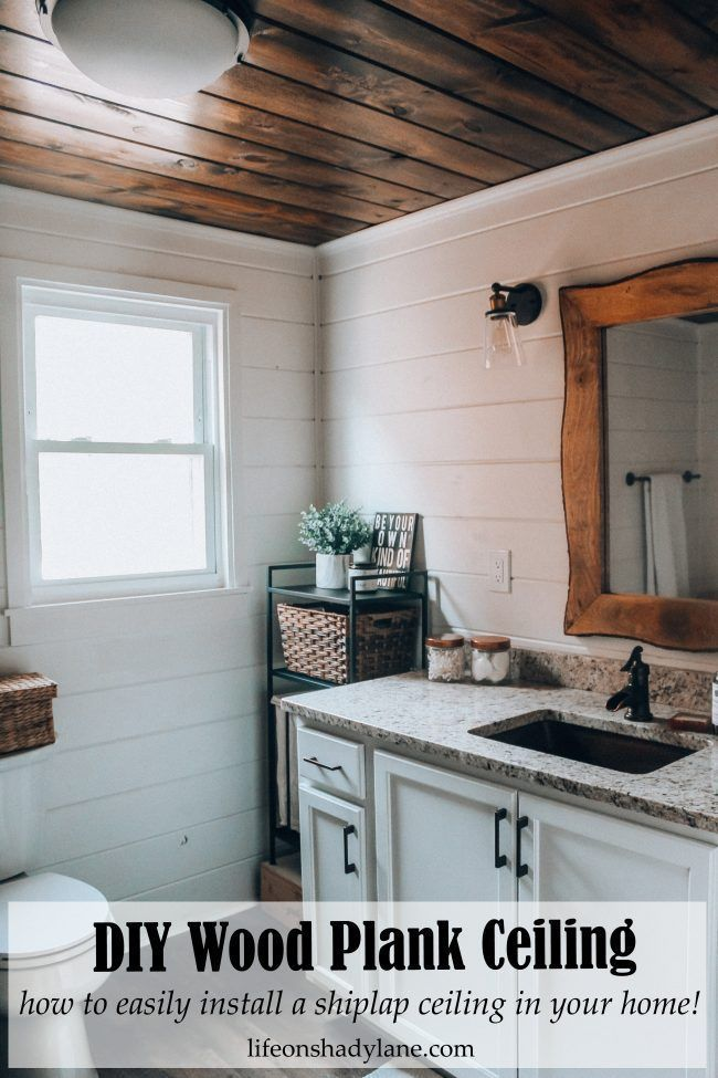 Diy Wood Plank Ceiling How To Easily Install A Shiplap Ceiling