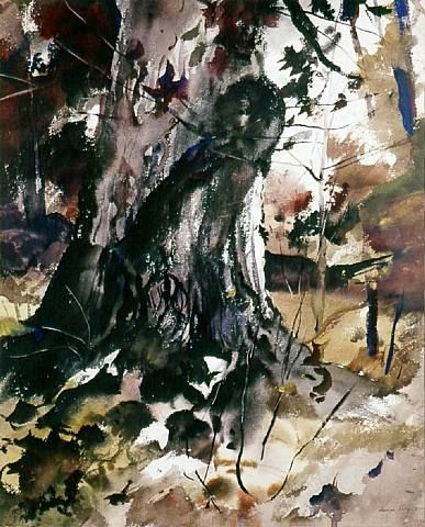 artnet Galleries: Burled Oak by Andrew Wyeth from Somerville Manning Gallery
