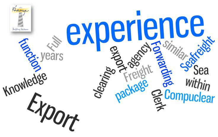 We're hiring! Sea Clerk Email recruit@khanye.com