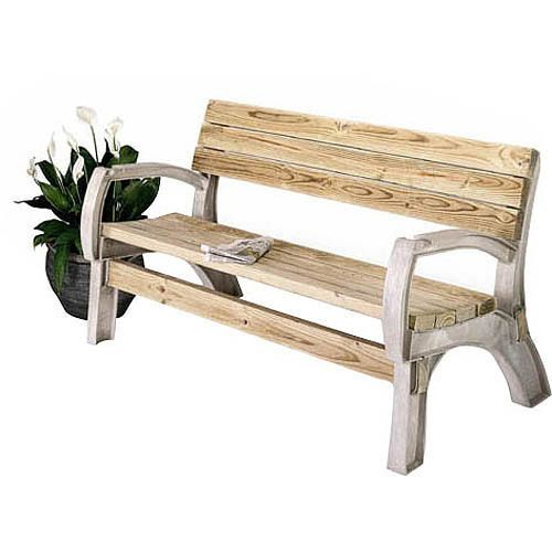 Patio Outdoor Bench Garden Resin Loveseat Chair Durable Seat Built Your Own DIY  #PatioOutdoorBench