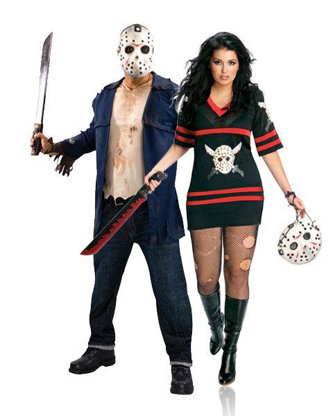 friday the 13th miss jason voorhees plus adult costume scary couples - Couple Halloween Costumes Scary