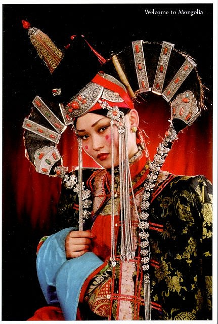mongolia khalkh wifes clothes by lentui, via Flickr