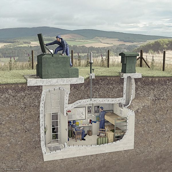 ROC Nuclear Monitoring Post - Cutaway Illustration on Behance