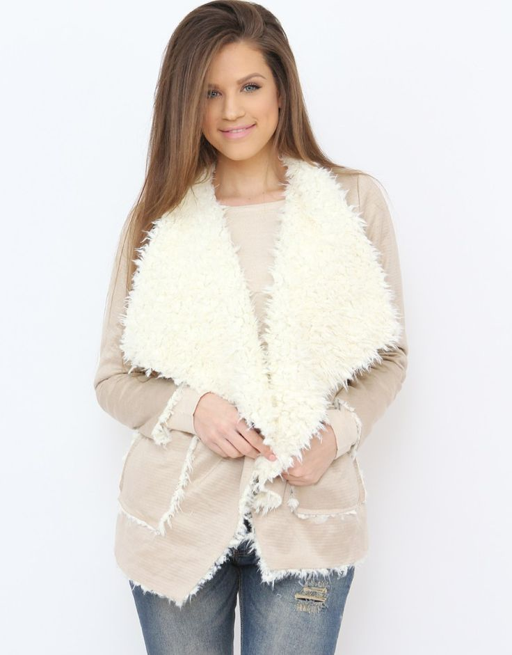 Shearling blazer from the softest material...:) Available at www.famevogue.ro  #shearling #blazer #style #fashion #clothing