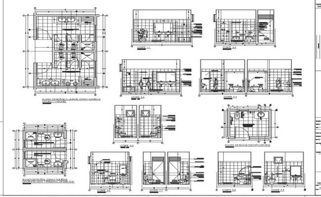 Toilet Plan Elevation And Section Working Plan Detail Dwg File