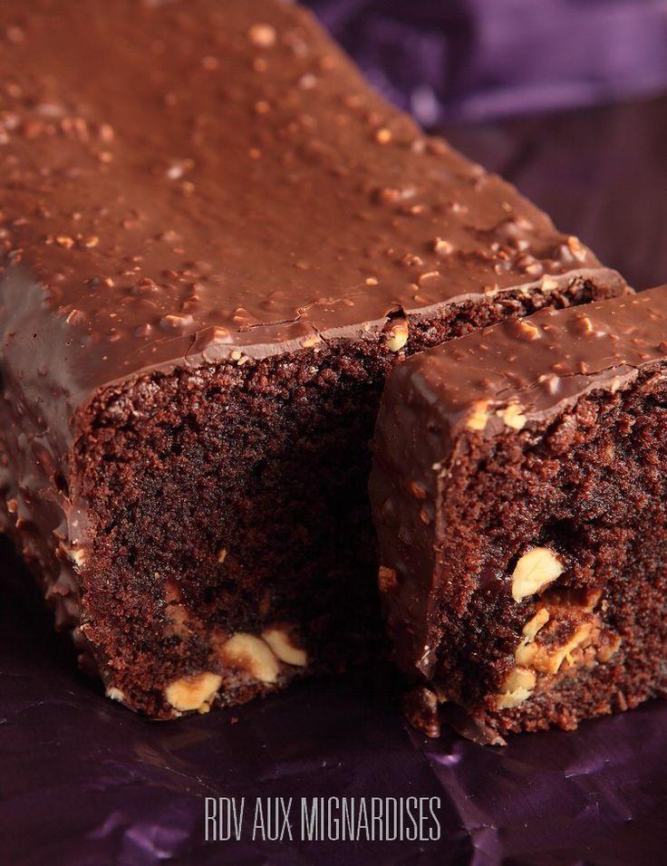 Cake infiniment chocolat praliné aux noisettes