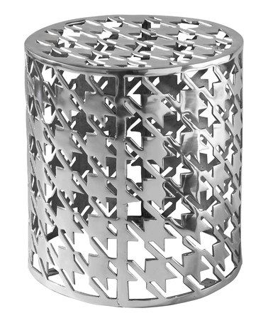 Silver Houndstooth Cutout Side Table by Timber Lane Furniture #zulily #zulilyfinds:
