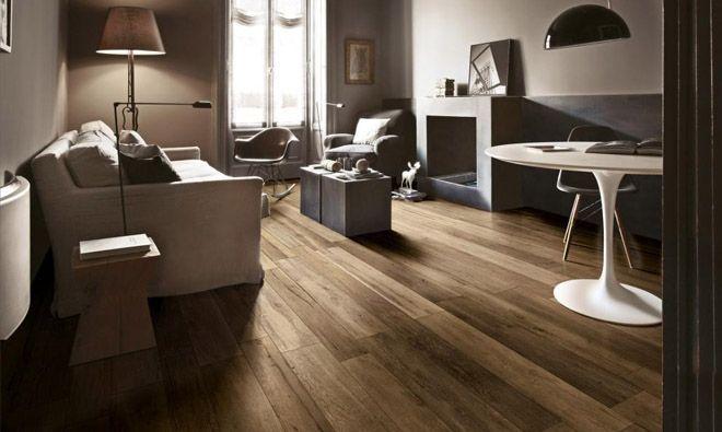 carrelage en gr s c rame teint dans la masse imitation parquet de coloris brun id es pour la. Black Bedroom Furniture Sets. Home Design Ideas
