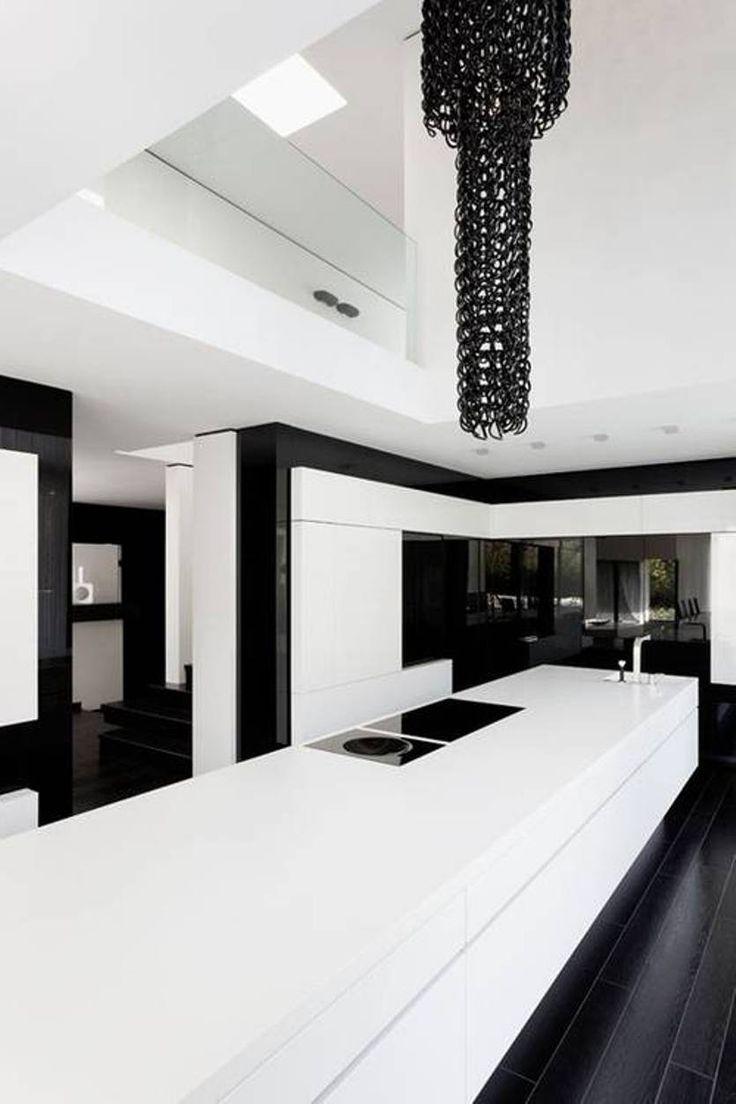 Black And White Kitchen Modern Black And White Modern Kitchen Ideas  Modern House