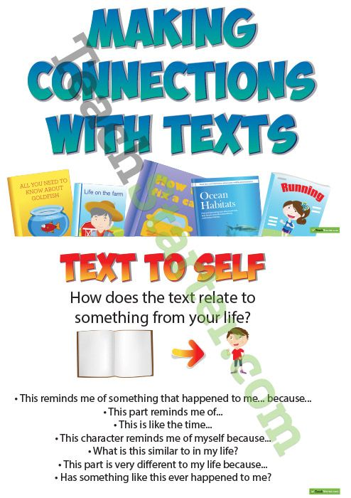 Making Connections with Text Posters Teaching Resources – Teach Starter