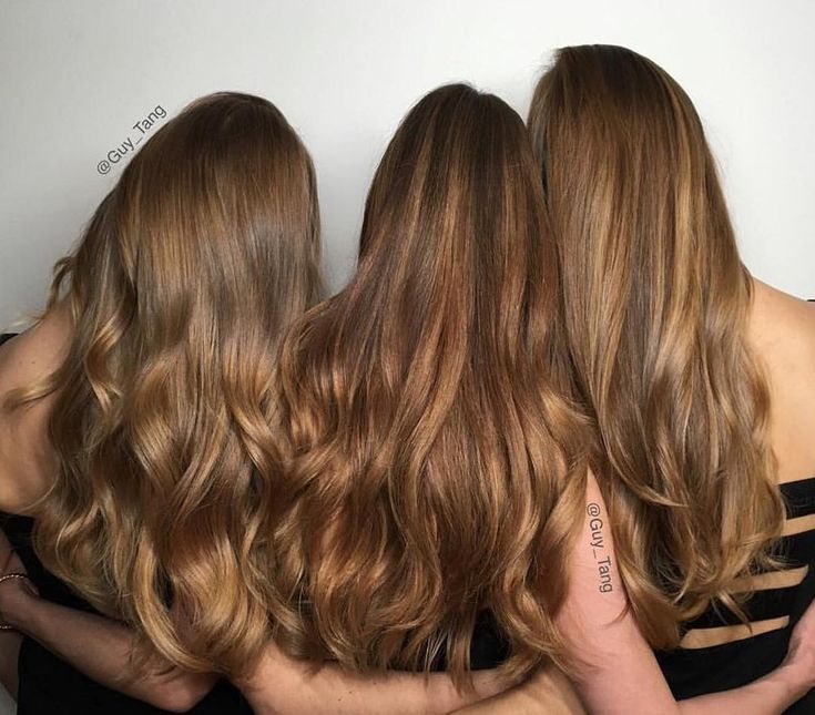 Balayaged light brown hair