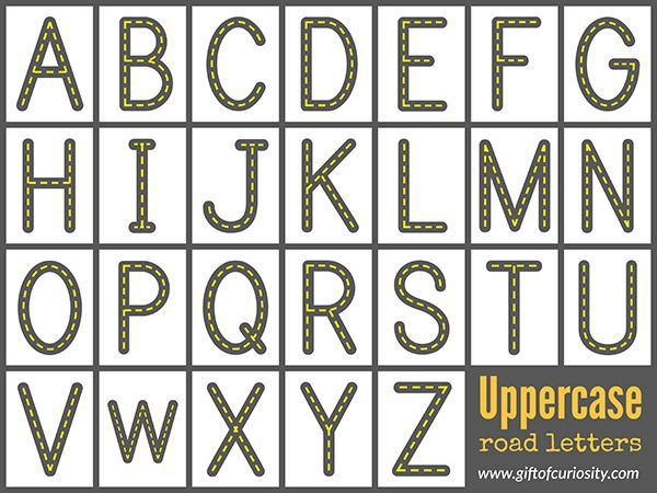 free printable alphabet letters free road letters printable for learning the alphabet 21863 | 3fca50b939a8cabcd438126ef7201b32