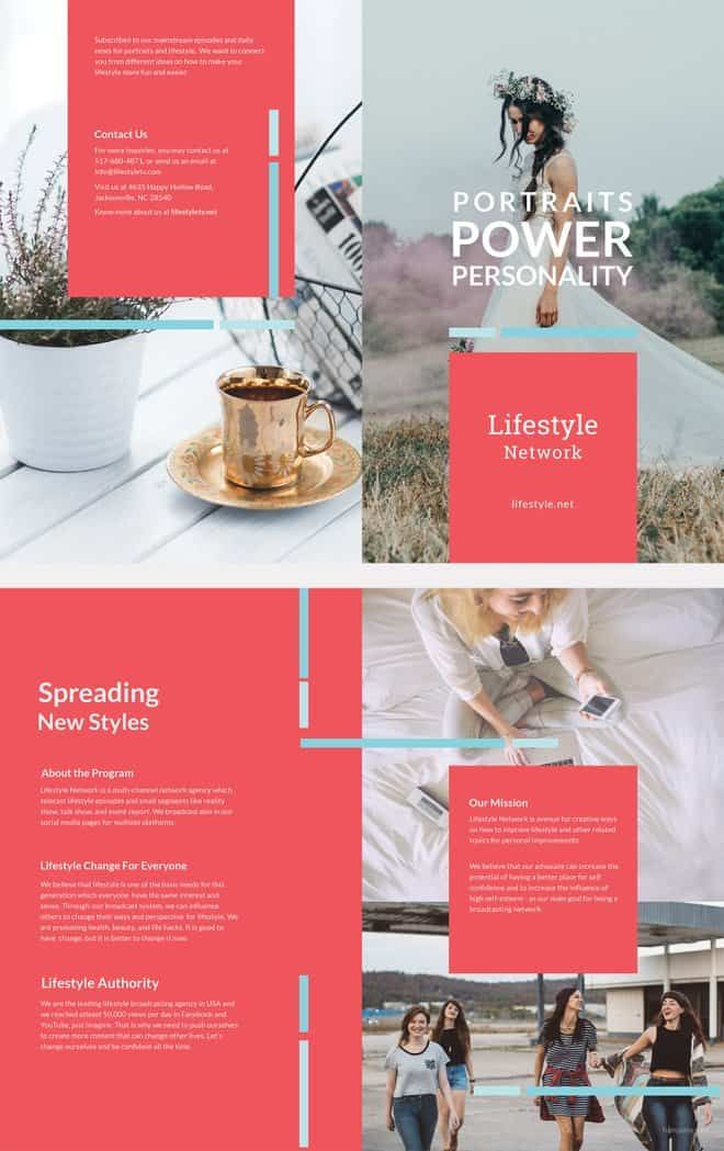 Bifold Brochure Template Free Ready Made Brochure Templates