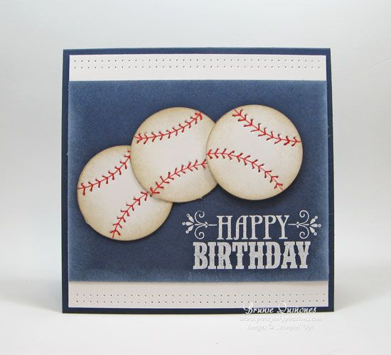 Happy Birthday Baseball by Brunie - Cards and Paper Crafts at Splitcoaststampers