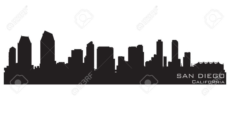 San diego skyline silhouette vector - Google Search