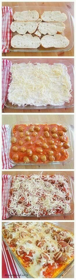 Meatball Sub Casserole - Looks good