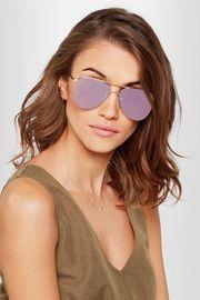 The Prince aviator-style gold-tone mirrored sunglasses