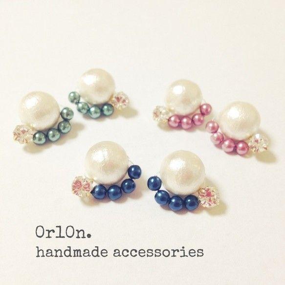 【冬限定!】Cotton pearl bijou pierce. by 0r10n. アクセサリー イヤリング