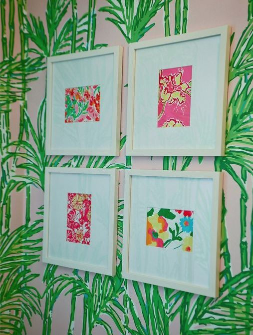 DIY  decor ~ make your own lilly art from calendar, agenda or fabric prints!