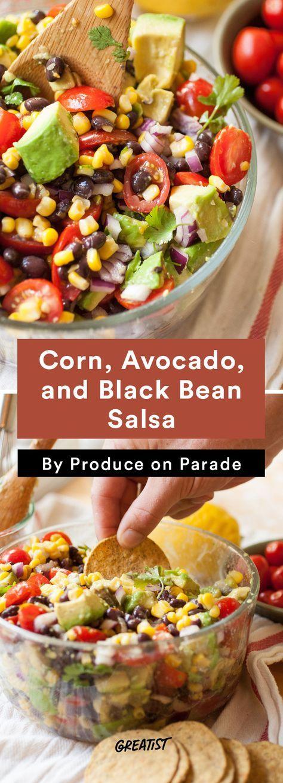 4. Corn, Avocado, and Black Bean Salsa #healthy #dip #recipes http://greatist.com/eat/dip-recipes-way-better-than-the-classics