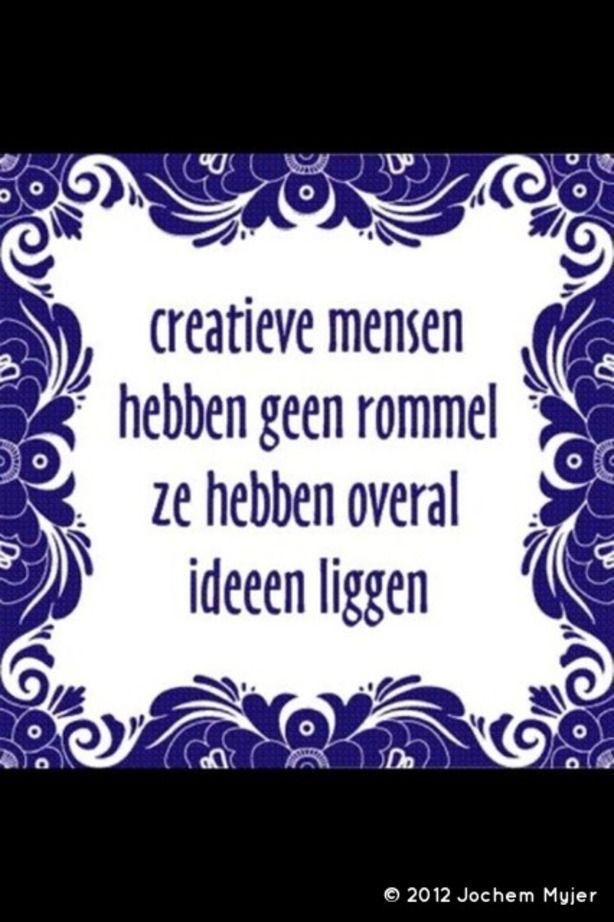 Creatieve ideeën geven rommel! So?