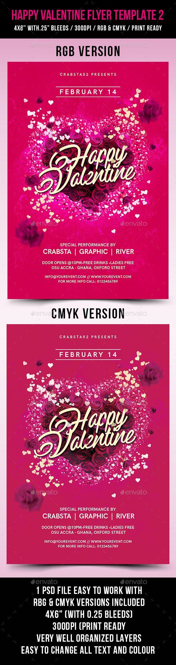 valentines flyer template