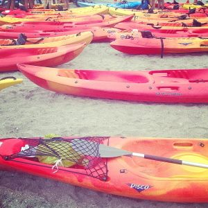 Group kayaking tours from Burriana Beach & La Herradurra