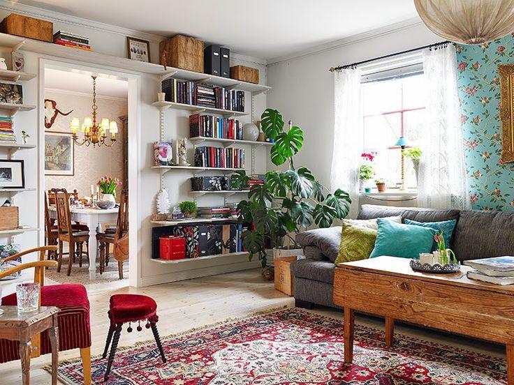 Casinha colorida: Inspirações: 22 salas de estar ecléticas