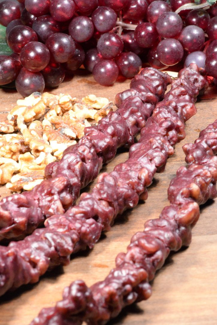 Georgian Churchkhela (Grape and walnut candy)