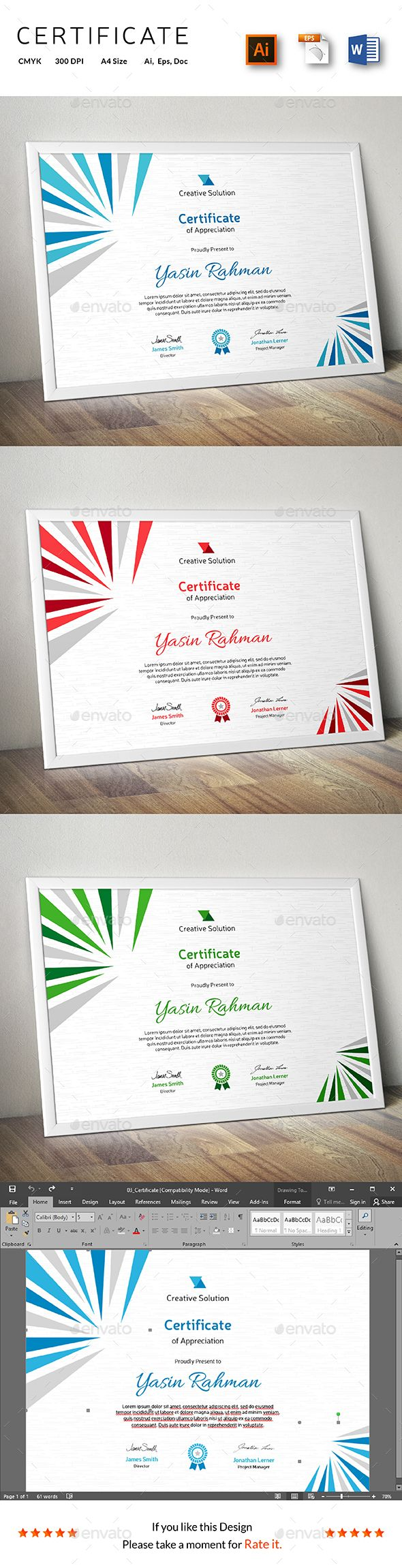 Certificate Template Vector EPS, AI. Download here: http://graphicriver.net/item/certificate/14298610?ref=ksioks