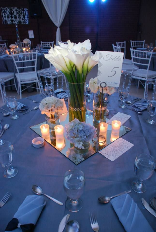 311 best weddings the reception images on pinterest weddings mirrors to reflect the colors and make them pop under the centerpiece myra likes this reception tablereception decorationswedding junglespirit Gallery