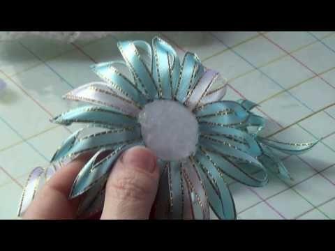 Нежный цветок из узкой ленты 0,6 см, МК./Flowers of the narrow strip is 0.6 cm, MK. - YouTube