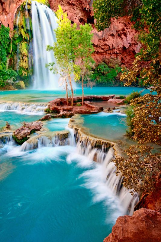 Havasupai Falls.  Want to go there SO bad.  amazing photo by alanjphoto