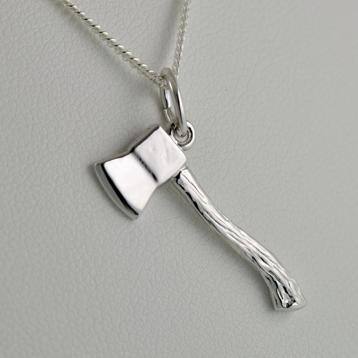 Acadia Axe Pendant in Sterling Silver  #acadiauniversity