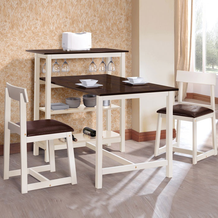 3 Piece Country Breakfast Table Set - WHAAAAAAAAAAATTTTT!? This is perfect for my tiny kitchen! I can finally eat at a table! Like an adult!