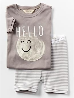 Organic moon short sleep set
