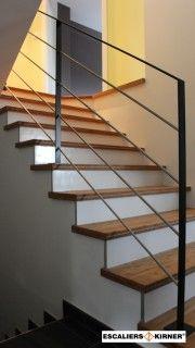 Garde-corps intérieurs ou rampes d'escaliers intérieurs en métal, bois ou inox