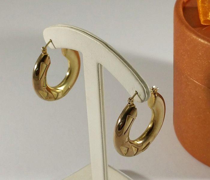 Vintage Ohrstecker - Ohrringe Creolen Gold 333 edles Design rar OR139 - ein Designerstück von Atelier-Regina bei DaWanda