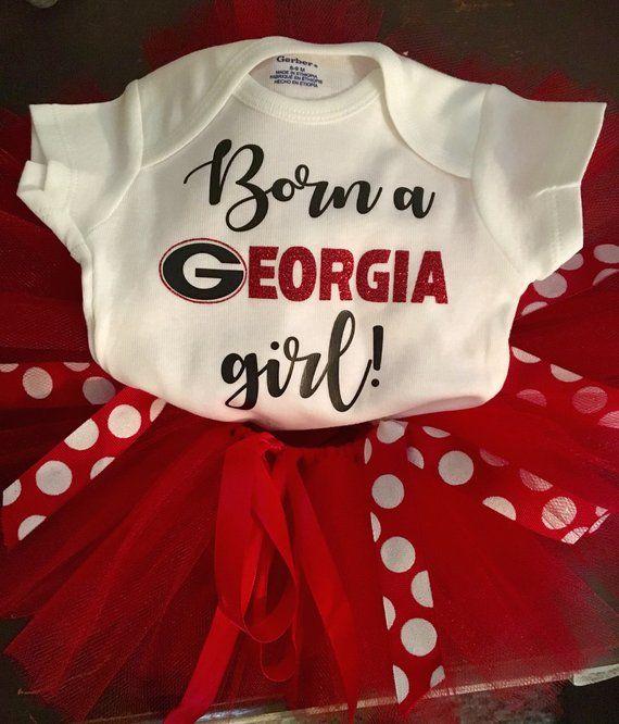 UGA Baby clothing Newest UGA Fan UGA Baby Onesie Bulldogs Baby Baby Shower Gift