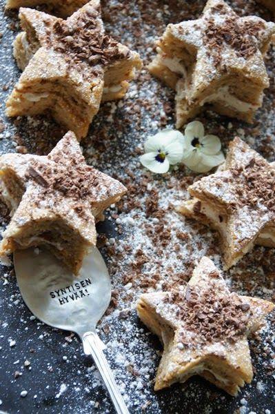 valkoinen puutalokot - blogi ja Ilonan tähtileivokset !